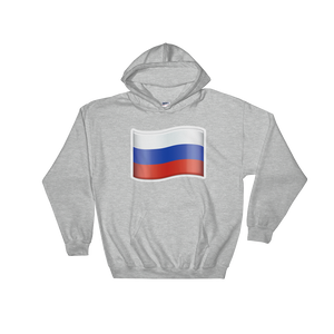 Emoji Hoodie - Flag Of Russia-Just Emoji