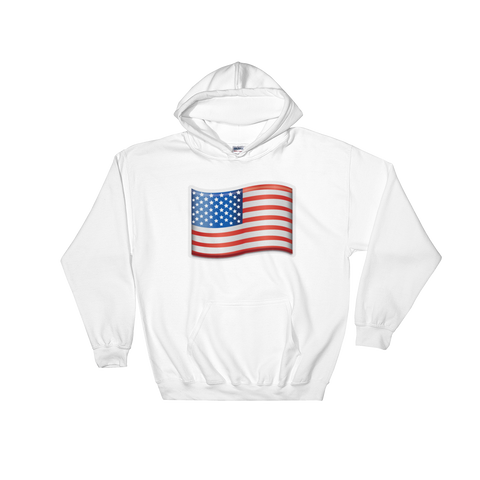 Emoji Hoodie - Flag Of USA-Just Emoji