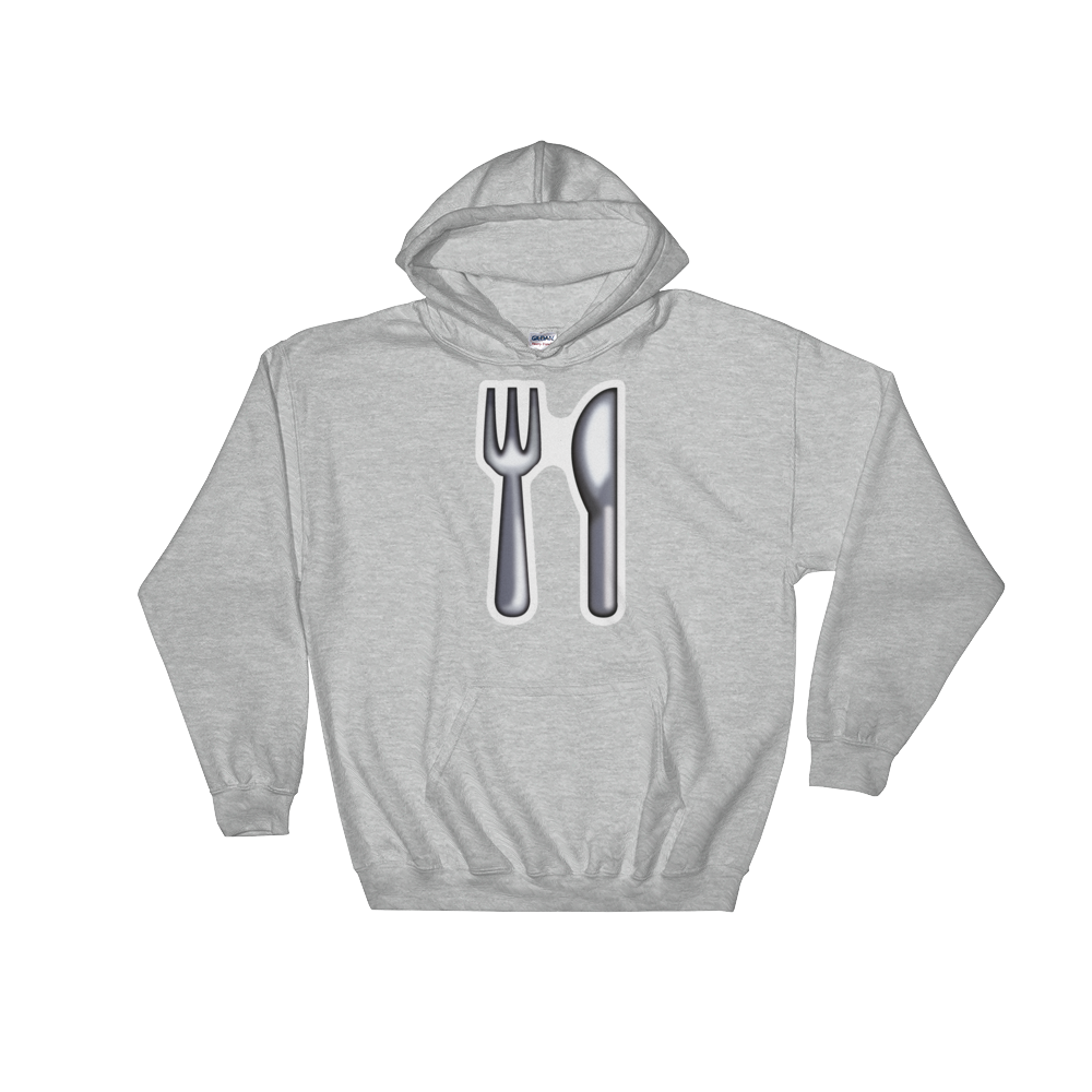 Emoji Hoodie - Fork And Knife-Just Emoji