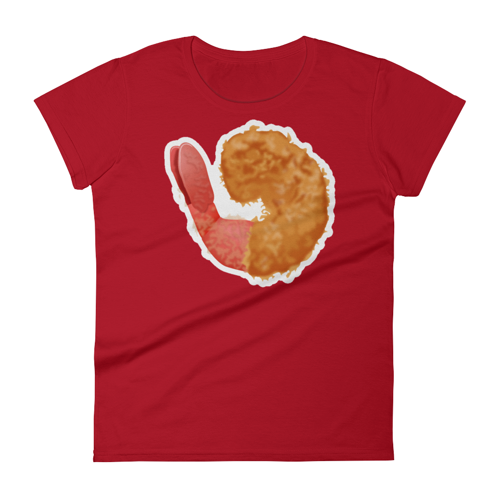 Women's Emoji T-Shirt - Fried Shrimp-Just Emoji
