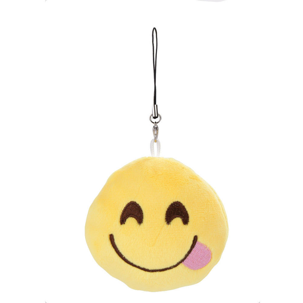 Emoji Keychain - Face Savouring Delicious Food-Just Emoji