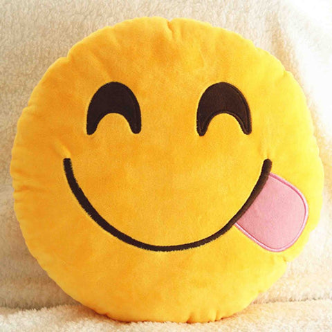 Emoji Cushion - Face Savouring Delicious Food-Just Emoji