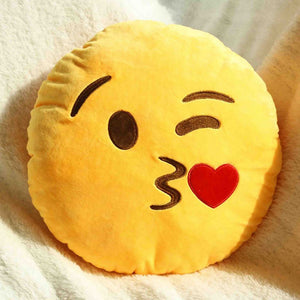 Emoji Shaped Pillow - Face Throwing A Kiss-Just Emoji