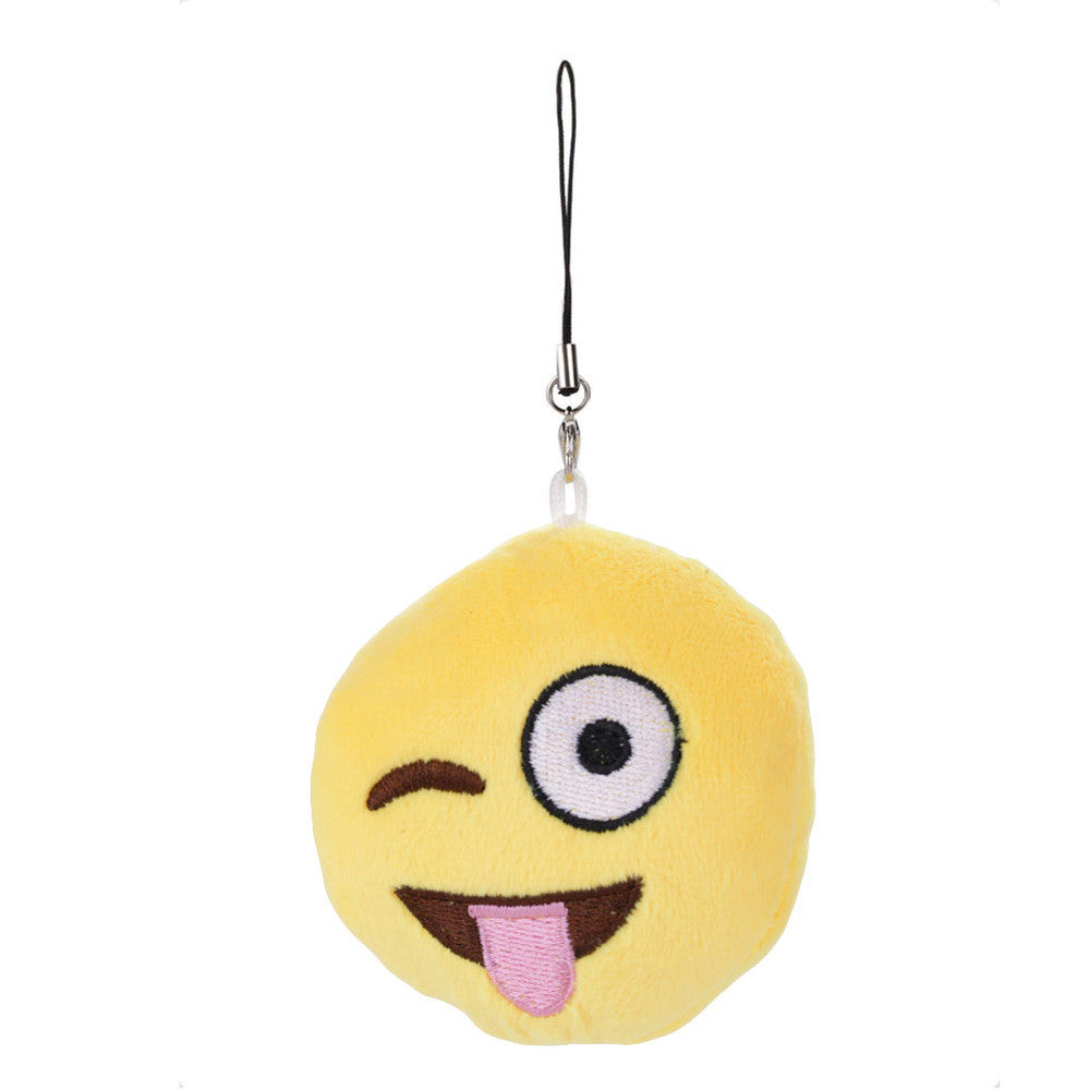Emoji Keychain - Face With Stuck Out Tongue And Winking Eye-Just Emoji