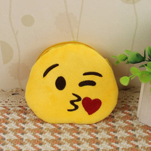Emoji Coin Purse - Face Throwing A Kiss-Just Emoji
