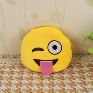 Emoji Coin Purse - Face With Stuck Out Tongue And Winking Eye-Just Emoji