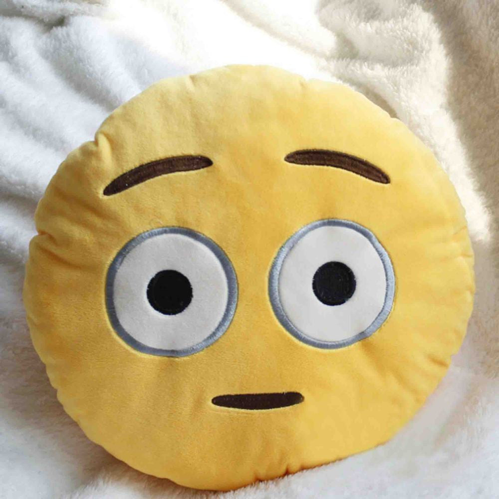 Emoji Cushion - Flushed Face-Just Emoji