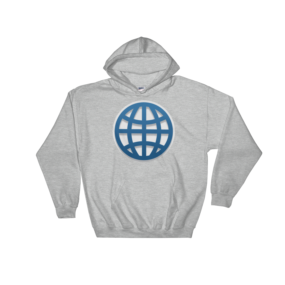 Emoji Hoodie - Globe With Meridians-Just Emoji