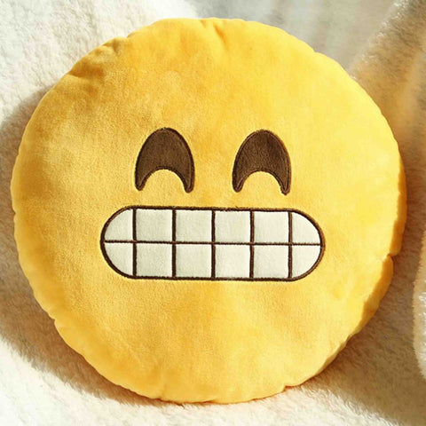 Emoji Cushion - Grinning Face With Smiling Eyes-Just Emoji