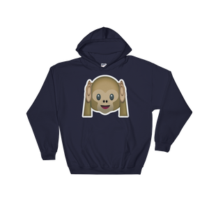 Emoji Hoodie - Hear No Evil Monkey-Just Emoji