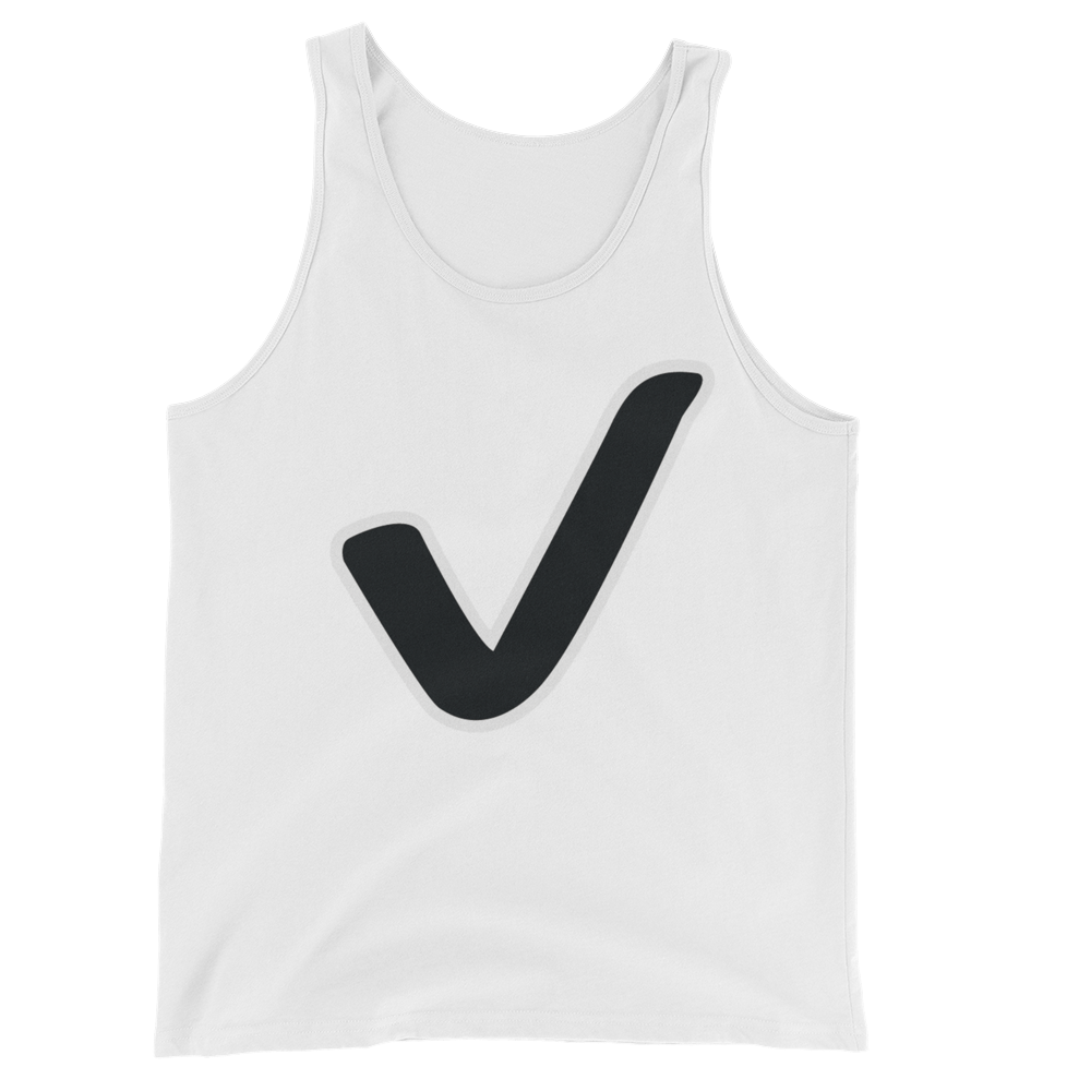 Men's Emoji Tank Top - Check Mark-Just Emoji