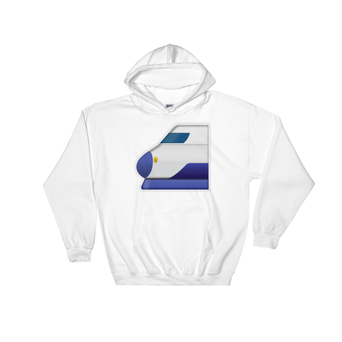 Emoji Hoodie - High Speed Train With Bullet Nose-Just Emoji