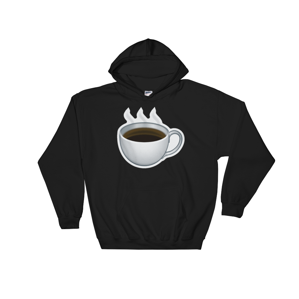 Emoji Hoodie - Hot Beverage-Just Emoji