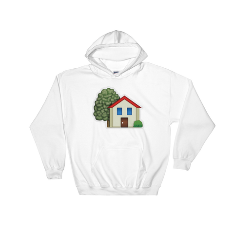 Emoji Hoodie - House With Garden-Just Emoji