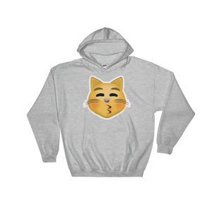 Emoji Hoodie - Kissing Cat Face With Closed Eyes-Just Emoji