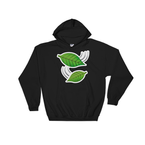 Emoji Hoodie - Leaf Fluttering In Wind-Just Emoji