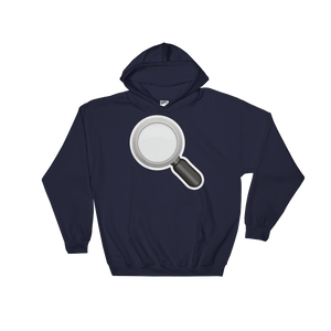 Emoji Hoodie - Left Pointing Magnifying Glass-Just Emoji