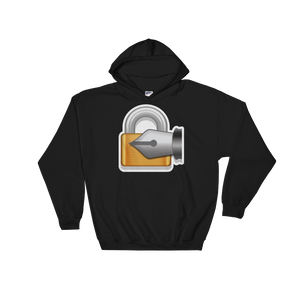 Emoji Hoodie - Lock With Ink Pen-Just Emoji