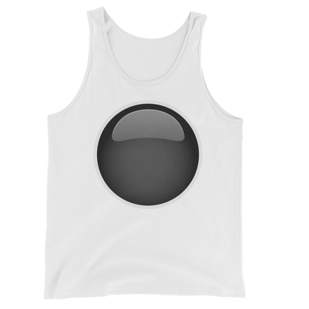 Men's Emoji Tank Top - Black Circle-Just Emoji