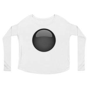 Women's Emoji Long Sleeve T-Shirt - Black Circle-Just Emoji