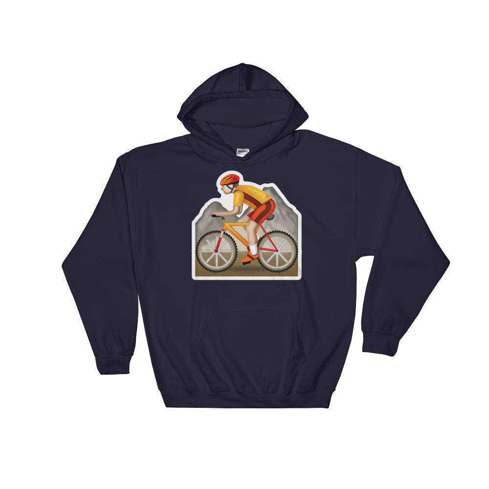 Emoji Hoodie - Mountain Bicyclist-Just Emoji