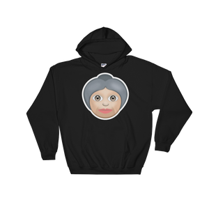 Emoji Hoodie - Older Woman-Just Emoji