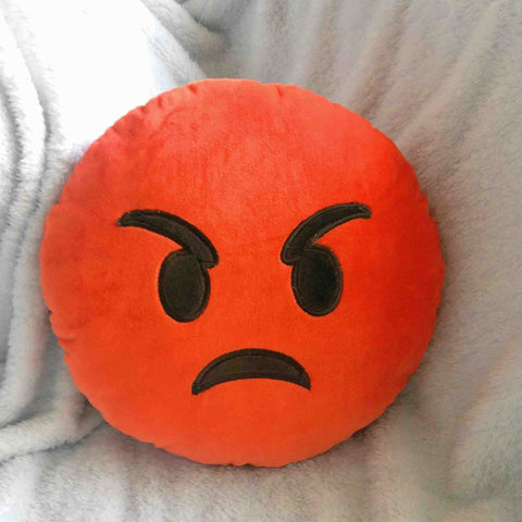 Emoji Cushion - Pouting Face-Just Emoji