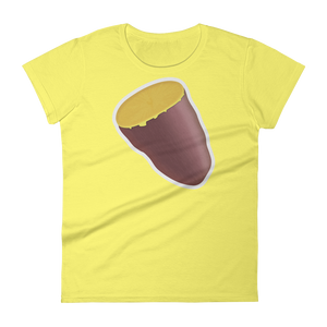 Women's Emoji T-Shirt - Roasted Sweet Potato-Just Emoji