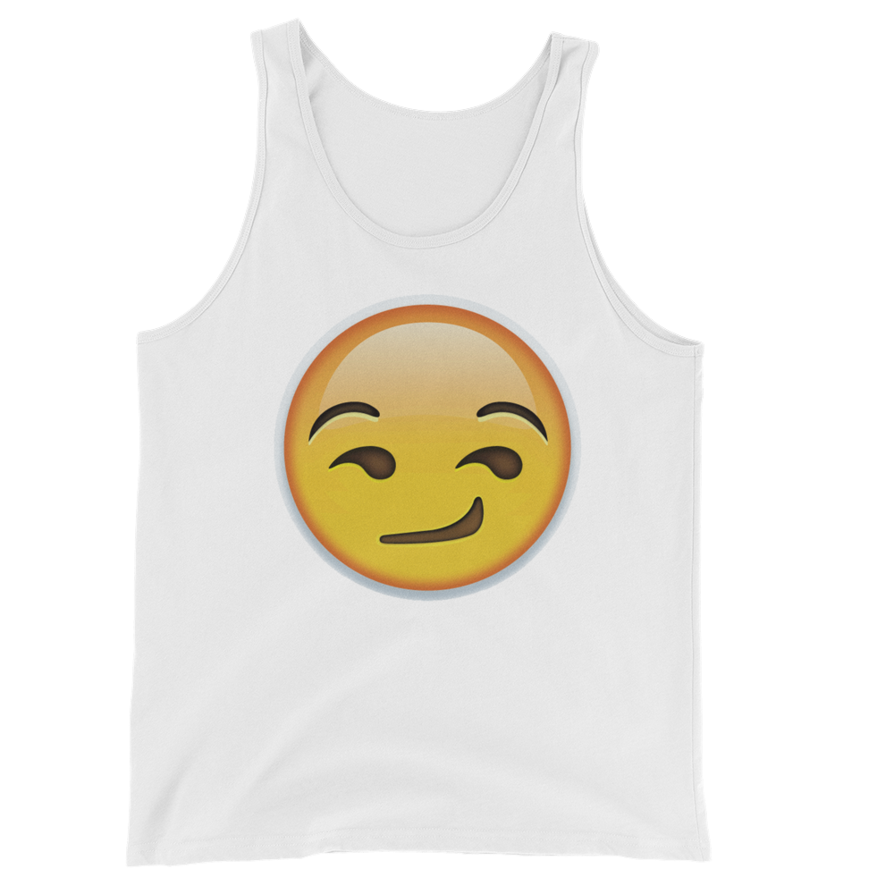 Men's Emoji Tank Top - Smirking Face-Just Emoji