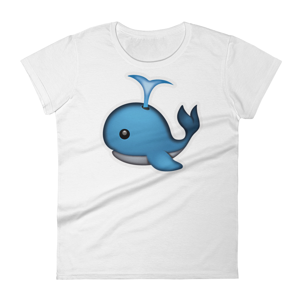 Women's Emoji T-Shirt - Spouting Whale-Just Emoji
