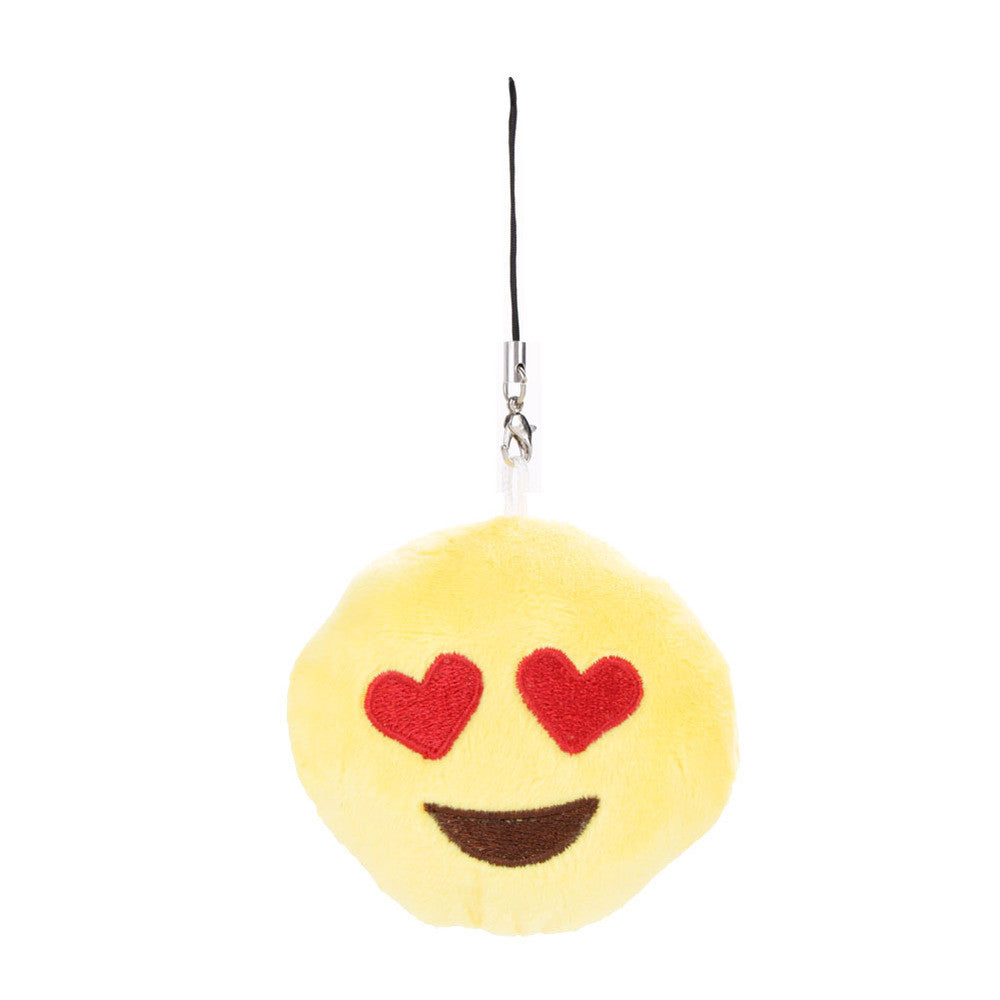 Emoji Keychain - Smiling Face With Heart Shaped Eyes-Just Emoji