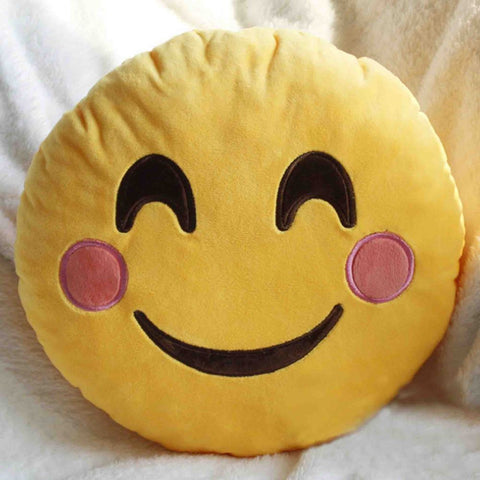 Emoji Cushion - Smiling Face With Smiling Eyes-Just Emoji
