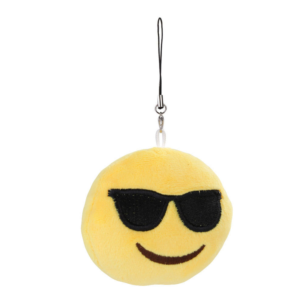 Emoji Keychain - Smiling Face With Sunglasses-Just Emoji