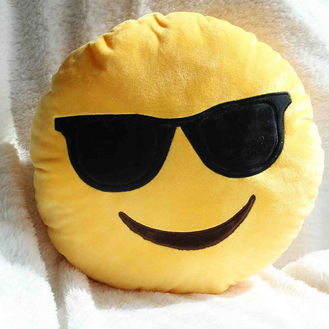 Emoji Cushion - Smiling Face With Sunglasses-Just Emoji