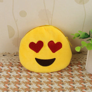 Emoji Coin Purse - Smiling Face With Heart Shaped Eyes-Just Emoji
