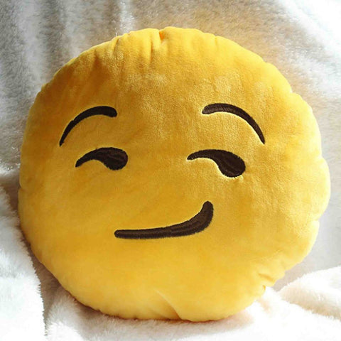 Emoji Cushion - Smirking Face-Just Emoji