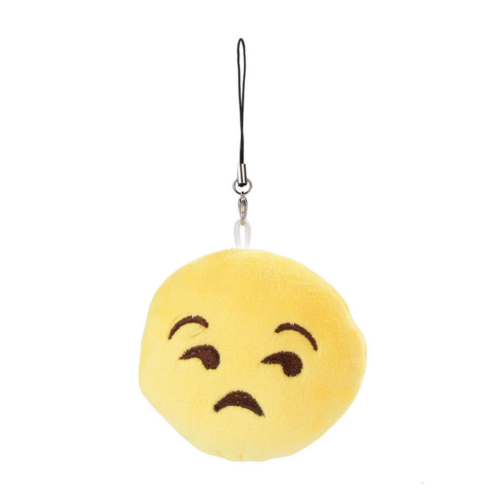 Emoji Keychain - Unamused Face-Just Emoji