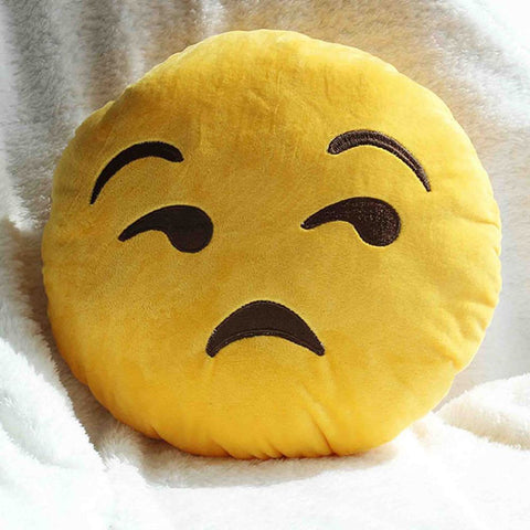 Emoji Cushion - Unamused Face-Just Emoji