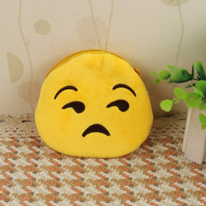 Emoji Coin Purse - Unamused Face-Just Emoji