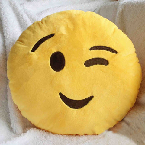 Emoji Cushion - Winking Face-Just Emoji