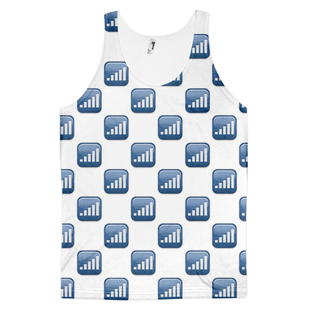 All Over Emoji Tank Top - Antenna With Bars-Just Emoji