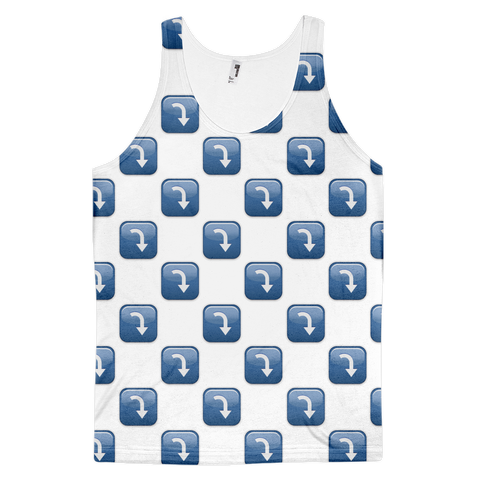 All Over Emoji Tank Top - Arrow Pointing Rightwards Then Curving Downwards-Just Emoji