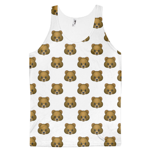 All Over Emoji Tank Top - Bear Face-Just Emoji