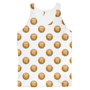 All Over Emoji Tank Top - Circled Ideograph Accept-Just Emoji