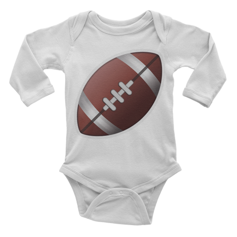 Emoji Baby Long Sleeve One Piece - American Football-Just Emoji