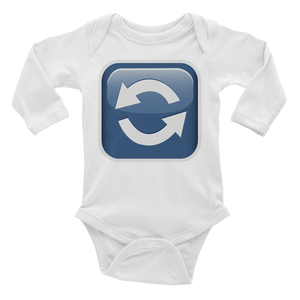 Emoji Baby Long Sleeve One Piece - Anticlockwise Downwards And Upwards Open Circle Arrows-Just Emoji