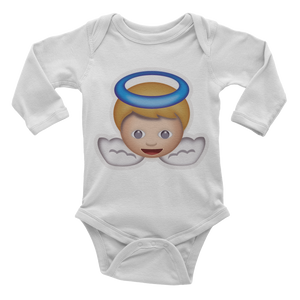 Emoji Baby Long Sleeve One Piece - Baby Angel-Just Emoji