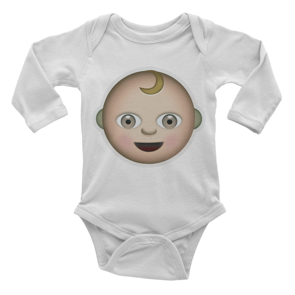 Emoji Baby Long Sleeve One Piece - Baby-Just Emoji