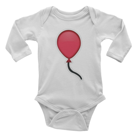 Emoji Baby Long Sleeve One Piece - Balloon-Just Emoji