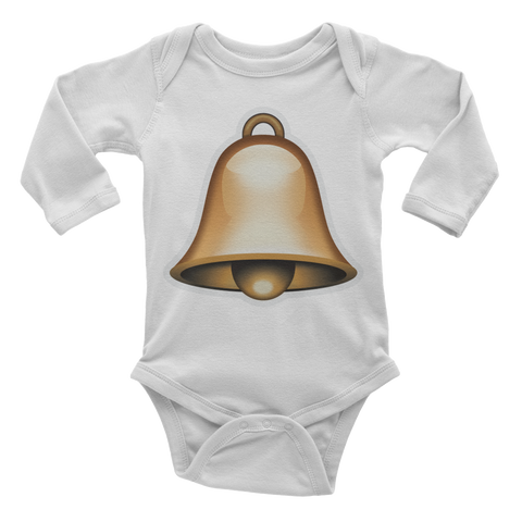 Emoji Baby Long Sleeve One Piece - Bell-Just Emoji